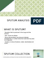 Sputum Analysis