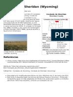 Condado de Sheridan (Wyoming) – Wikipédia, A Enciclopédia Livre
