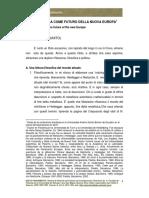Vattimo-Latinoamerica Come Futuro Della Nuova Europa (Diciembre)