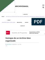 Ventajas de Un Archivo Bien Organizado _ ARCHIVOSAGIL