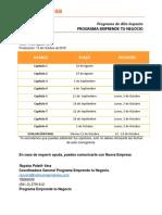 Cronograma EMPRENDE TU NEGOCIO - Programa de Alto Impacto 19.8
