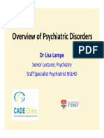 2- PAAM - Overview of Psychiatric Disorders