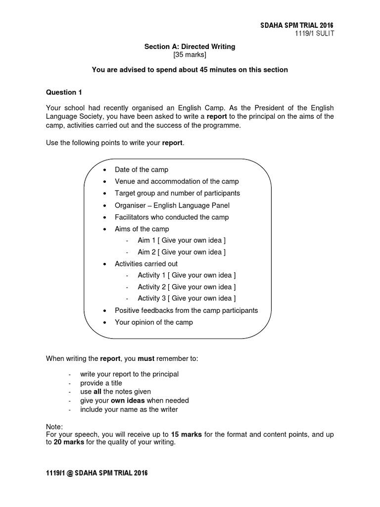 Spm 2016 English Trials Pontian Set 1 Paper 1