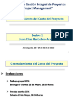 Gestión de Costos Del Proyecto 1pp - 1oParte