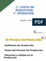 1.2 Costo de Produccion y Operacion