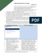 ChangeManagement LeadDiscussion AddressingReactionsToChange Guide