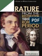 J. e. Luebering English Literature From the Restoration Through the Romantic Period the Britannica Guide to World Literature