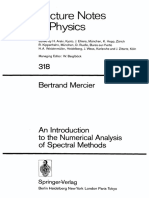 Bertrand Mercier an Introduction to the Numerical Analysis of Spectral Methods 1989