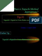 Why Taguchi Method Tip 1