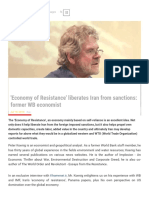 'Economy of Resistance' Liberates Iran From Sanctions_ Former WB Economist - Khamenei