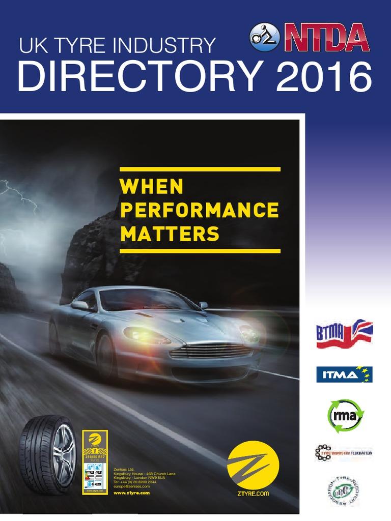 2016 00 Ntda Tyre Industry Directory Tire Aftermarket Automotive