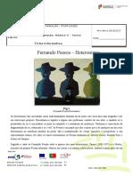 Fernando Pessoa Heterónimos - Ficha Informativa
