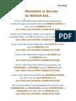 Info Sheet - Transformation Zu Das Was Du Wirklich Bist... - German Version