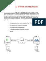 Configuring IPsec VPN With a FortiGate and a Cisco ASA