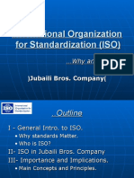 ISO (International Organization Standardization)