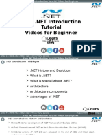 Dot Net Introduction Training- Ppt