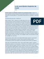 Limitele legale ale exerciţiului dreptului de proprietate privată.doc
