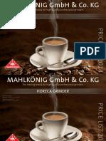 Grinder Price List MK 2014