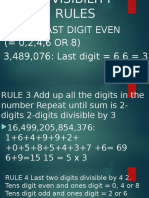 Divisibility Rules Ppt
