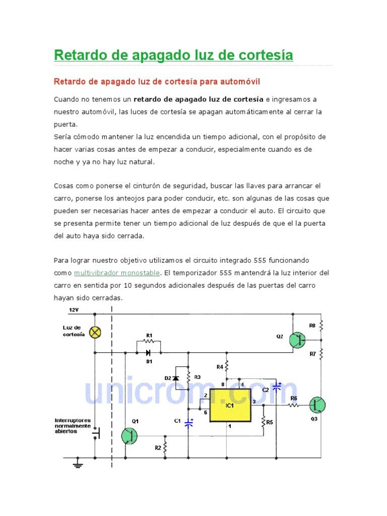 Interruptor temporizador rel/é de 1 a 50 segundos Interruptor de retardo de desconexi/ón 12V HK1582
