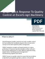 QRQC- Quick Response to Quality Control