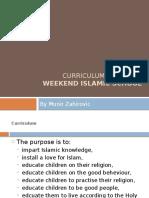 Curriculum for Weekend Islamic School by Munir Zahirovic