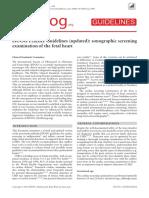 ISUOG Cardiac Screening Guidelines Aspublished 2013