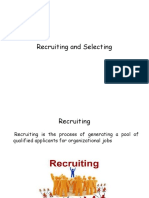 Recruiting and Selecting