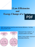 2 Law and Exergy Change