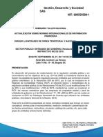 PROGRAMA NIIF SEPTIEMBRE- Entidades Del Gobierno Financiera