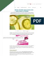10 Benefícios de Beber Água Morna Com Limão Todas as Manhãs - Melhor Com Saúde