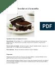 Gâteau Au Chocolat Et à La Menthe