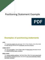 Marketing Positioning