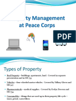 Peace Corps OST Property Management at PC 6.13.12