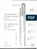 Levine Carin Techniques Of Flute Playing Ii English German