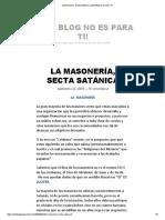 La Masonería, Secta Satánica