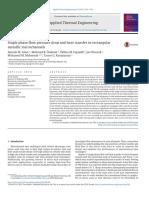 9-Single Phase Flow Pressure Drop and Heat Transfer in Rectangular Metallic Micrichannels