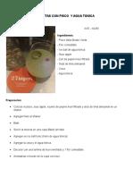 Recetas Con Pisco y Agua Tonica