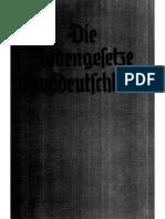 Deeg, Peter - Die Judengesetze Grossdeutschlands (1939, 253 S., Scan, Fraktur)