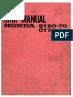 Manual Taller - Honda ST 50-70 CT70(in)