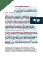 Online TBL Therapeutics Hypertensive Crises
