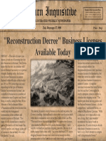 Reconstruction Decree Business Licenses Available Today