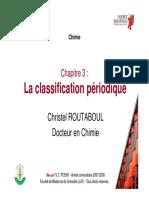 la classification periodique