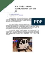 El Inicio de La Produccion de Vehiculos Que Funcionan Con Aire Comprimido