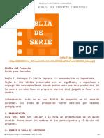 Biblia Del Proyecto (Seriados) _ Mesa de Guión