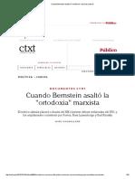 Cuando Bernstein Asaltó La _ortodoxia_ Marxista _ Ctxt