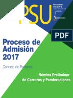 2017 16-06-09 Oferta Carreras Ponderaciones