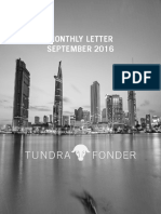 Tundra Monthly Letter September 2016