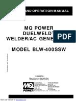 MQ Power Duelweld Welder_Ac Generator BLW-400SSW