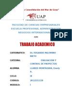 t.a.  EVALUACION DE PROYCETO